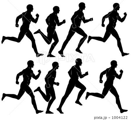 影 シルエット 走り 人物 走る 男性のイラスト素材 Pixta