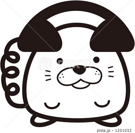犬 電話 キャラクター 秋田犬の写真素材 Pixta