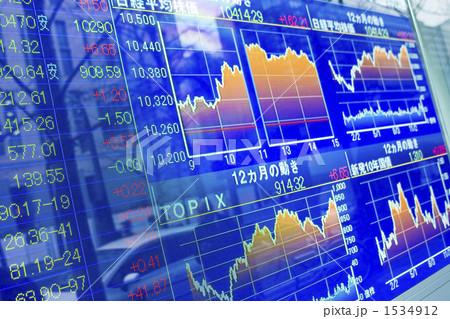 グラフ チャート チェッカーボード 株価ボードの写真素材 Pixta