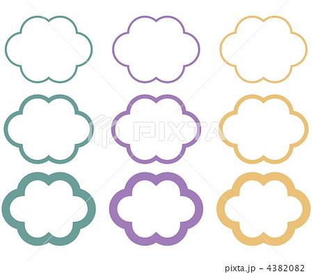 雲形 フレームの写真素材 - PIXT...