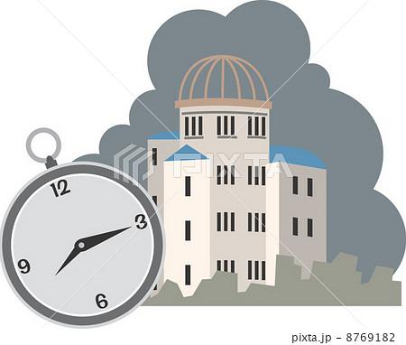 広島の原爆ドーム. イラスト. イラスト