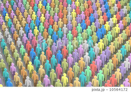 人々 人ごみ 人混み 大勢 コンセプトのイラスト素材 Pixta