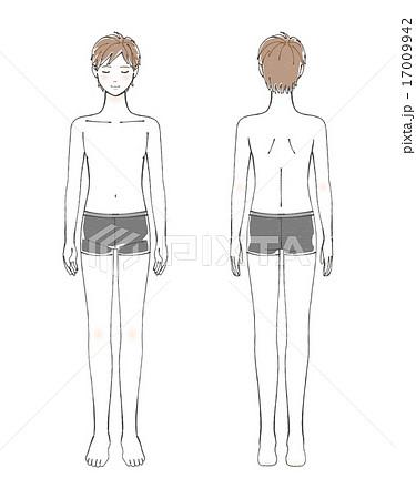 男性 体 全身 後ろ姿のイラスト素材 Pixta