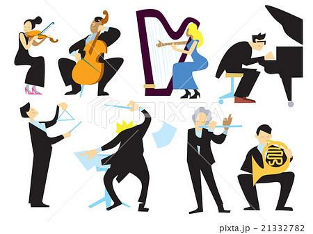 音楽 オーケストラ 人々 人物のイラスト素材 Pixta