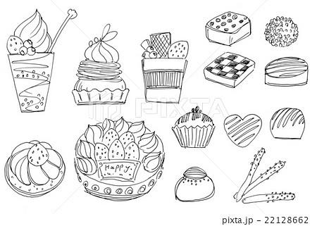ペンタッチ 手描き イラスト スイーツのイラスト素材 Pixta