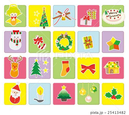 クリスマスオーナメントのイラスト素材 Pixta