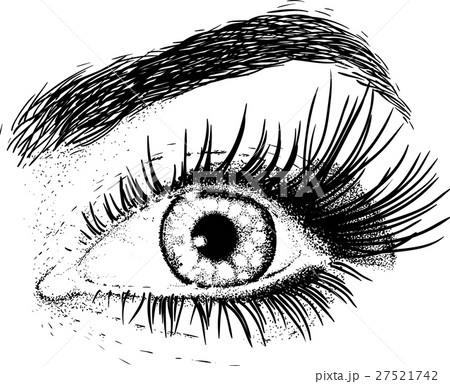 ベクター 目 イラスト 瞳のイラスト素材 Pixta
