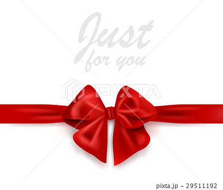 pixta blank greeting card with red gift ribbon and bow negle Choice Image