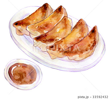 水彩イラスト 食品 餃子