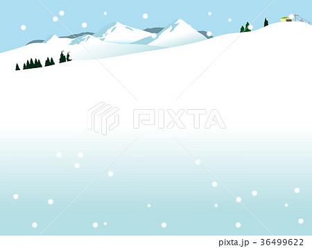 スキー場 風景 雪景色 ゲレンデのイラスト素材 Pixta