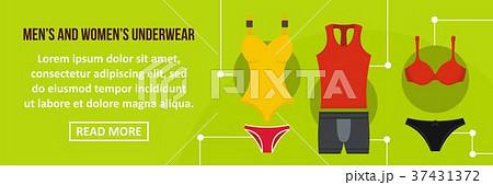 c6e0e742840d7 Men and women underwear banner horizontal concept · ベビー服 肌着