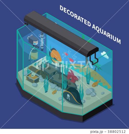 成分 アクアリウム アイソメトリック アイソメのイラスト素材 Pixta