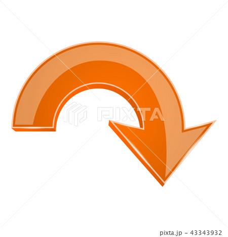 やじるし 矢印 オレンジ オレンジ色のイラスト素材 Pixta