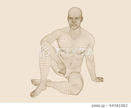 立っている 人 図 イラストの写真素材 Pixta