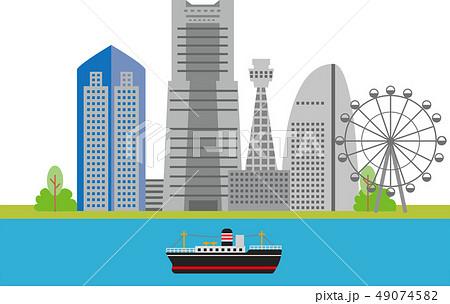 横浜ランドマークタワーのイラスト素材 Pixta