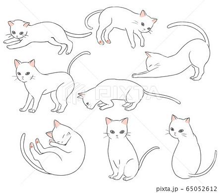 猫 可愛い猫 のイラスト素材一覧 選べる豊富な素材バリエーション